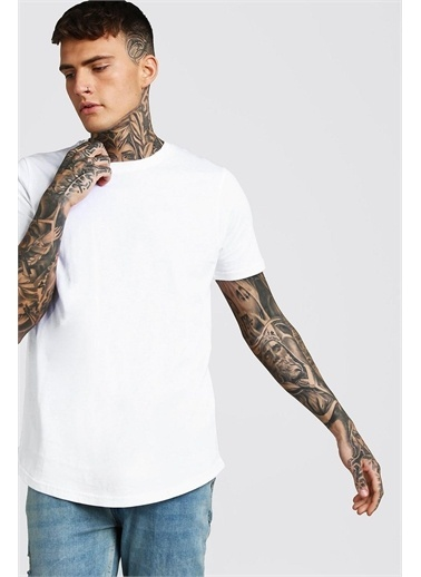 XHAN Lacivert Bisiklet Yaka T-Shirt 1Kxe1-44750-14 Beyaz